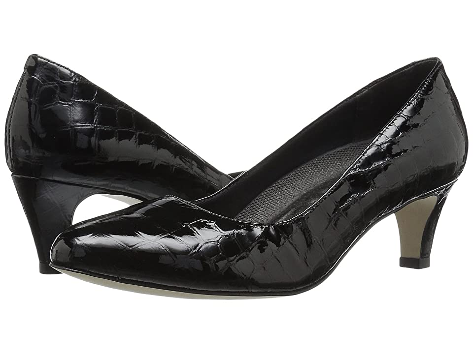 Walking Cradles Joy (Black Patent Crocco) Women