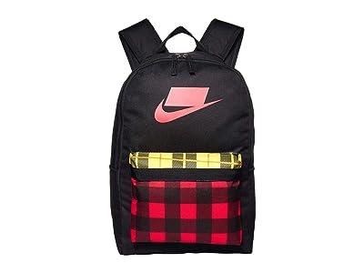 Nike Heritage All Over Print Backpack 2.0 (Black/University Red/University Red) Backpack Bags