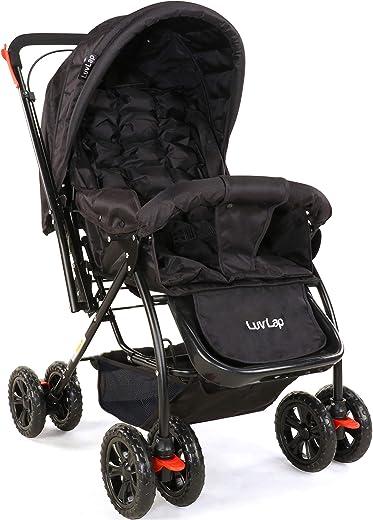 LuvLap Starshine Stroller/Pram, Easy Fold for Newborn Baby/Kids, 0-3 Years (Black) 1