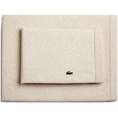Lacoste Queen or King Sheet Set 100/% Cotton Percale Solid GARNET Red Green Logo