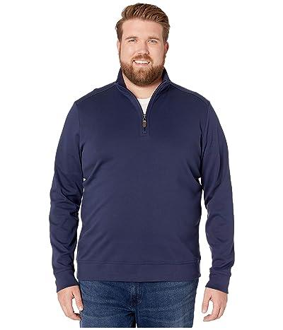 Tommy Bahama Big & Tall Martinique 1/2 Zip Sweater (Ocean Deep) Men