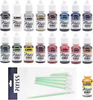 All 17 Colors Jacquard Pinata Alcohol Inks Bundle and 10x Pixiss Ink Blending Tools