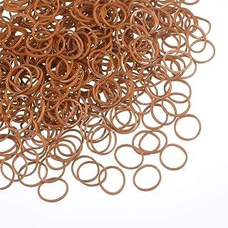Sponsored Ad - 1000 Mini Rubber Bands Soft Elastic Bands for Kid Hair Braids Hair (Brown)