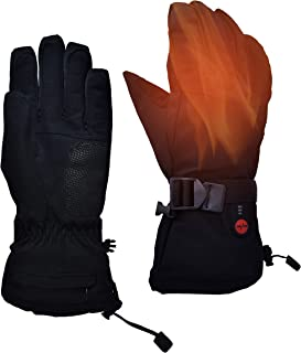 day wolf Heated Gloves Skiing Light Weight Touch Screen Electric Hand Warmer 7.4V 2200MAH Rechargeable for Men Women Water Resistant Thermal for Winter Sports Indoor Outdoor Camping Hiking