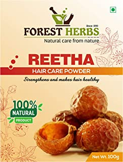 Forest Herbs 100% Natural Organic Reetha Powder For Hair Growth - 100 Grams