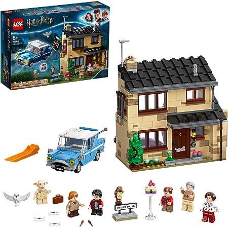 LEGO HarryPotter PrivetDrive,4, Playset con la FordAnglia e le Figure di Dobbye della Famiglia Dursley, 75968