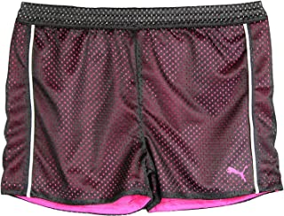 PUMA Big-Girls Mesh Athletic Breathable Tech Active Yoga Gym Playground Shorts