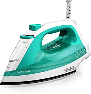 BLACK+DECKER Light 'N Easy Compact Steam Iron, Turquoise, IR1010