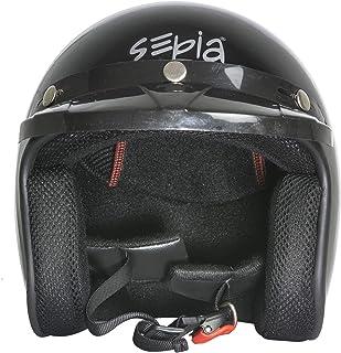 Sepia Smart Rider with Peak (Metallic Black, M)