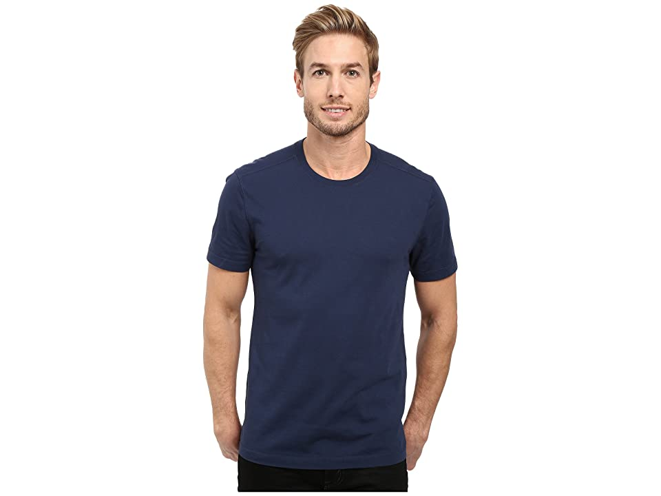 Image of Agave Denim Agave Supima Crew Neck Short Sleeve Tee (Black Iris Navy) Men's T Shirt