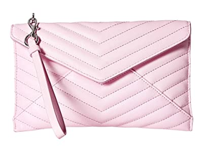 Rebecca Minkoff Quilted Leo Wristlet (Light Orchid) Wristlet Handbags