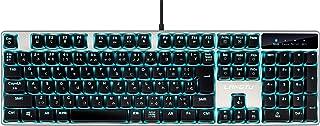 LANGTU ゲーミングキーボード 有線 日本語配列 青軸 メカニカルキーボード ゲーム オフィス 20種LEDバックライト K1002