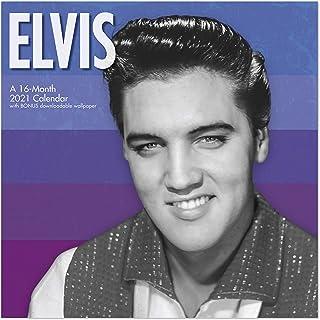 """Day Dream Calendars 2021 Elvis Presley Wall Calendar, 12"""" x 12"""", Monthly (DDD3732821)"""