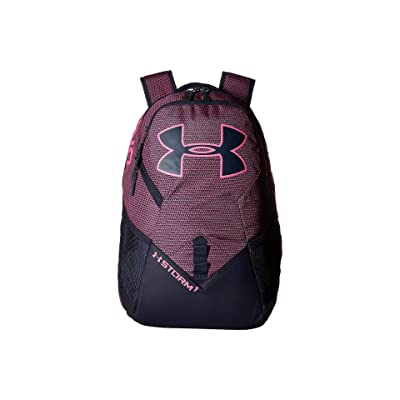 Under Armour UA Big Logo IV Backpack (Pink Sky/Midnight Navy/Pink Sky) Backpack Bags
