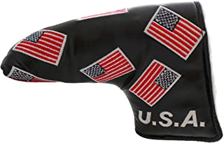 USA Patriotic Golf Putter Cover Head Covers Black Red White Blue blade Style Classic Traditional Headcover Putters Limited Edition