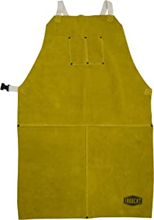 West Chester IRONCAT 7010 Heat Resistant Split Cowhide Leather Welding Bib Apron, 24