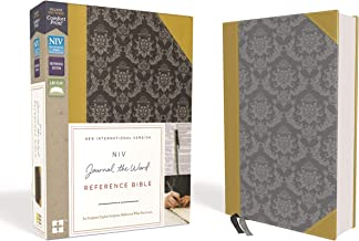 NIV, Journal the Word Reference Bible, Leathersoft, Gold/Gray, Red Letter Edition, Comfort Print: Let Scripture Explain Scripture. Reflect on What You Learn.
