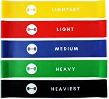 Resistance Loop Bands - Elevans Premium Exercise Bands Set of 5 for Yoga, Pilates, and Strength Training - Designed in...