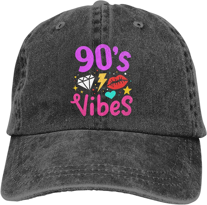 Garitin 90'S 1990'S Nineties Hats Baseball Cap Men Women Washable Adjustable Cotton Trucker Cap