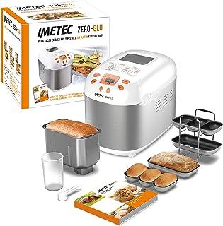 Imetec Zero-Glu Panificadora, 20 Programas Pan y Dulces, sin Gluten, Accesorios para 3 Formas diferentes de Pan, Temporiza...