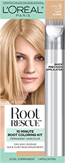 L'Oreal Paris Root Rescue 10 Minute Root Coloring Kit, 9 Light Blonde