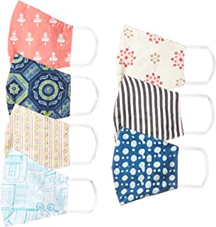 Ayukta Women's Cotton Reusable Face Mask (Pack of 7) (AYUMSK01_Multicolor_Free Size)