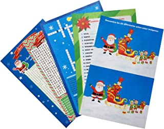 Christmas Games for all, Set of 30 pieces. in Spanish. 5 different Games Includes: Word Search, Maze game, Crossword, Find...