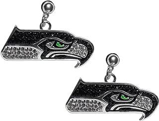 Siskiyou NFL Womens Crystal Stud Earrings