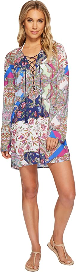 La Blanca - Scarf Gypsy Tunic Top Cover-Up