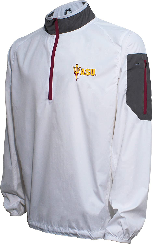 Crable NCAA Mens Ultra Lightweight Windbreaker Pullover