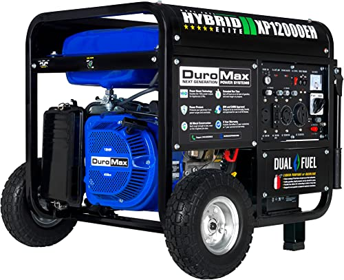 wholesale DuroMax XP12000EH Generator-12000 Watt Gas or Propane Powered Home Back Up & RV Ready, 50 State Approved Dual Fuel Electric online sale sale Start Portable Generator, Black and Blue outlet online sale