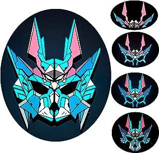 light up wolf mask
