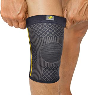 Bracoo Knee Sleeves with EVA pad and Stabilizers - Compression Patella Support for Arthritis, Tendinitis Pain Relief & Athletic Injury Recovery, Super Guardian KS90, X-Large