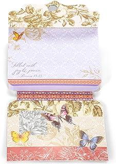 Divinity Boutique Gold Foil Gem Embellished Purse Notepad - Butterfly Garden 22926