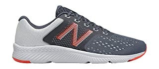 New Balance Perforated Mesh-Textile Side Logo Lace-up Sneakers For Men - Blue and Orange