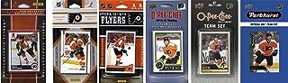C&I Collectables NHL Philadelphia Flyers 男式 6 种不同的许可交易卡队套装,白色