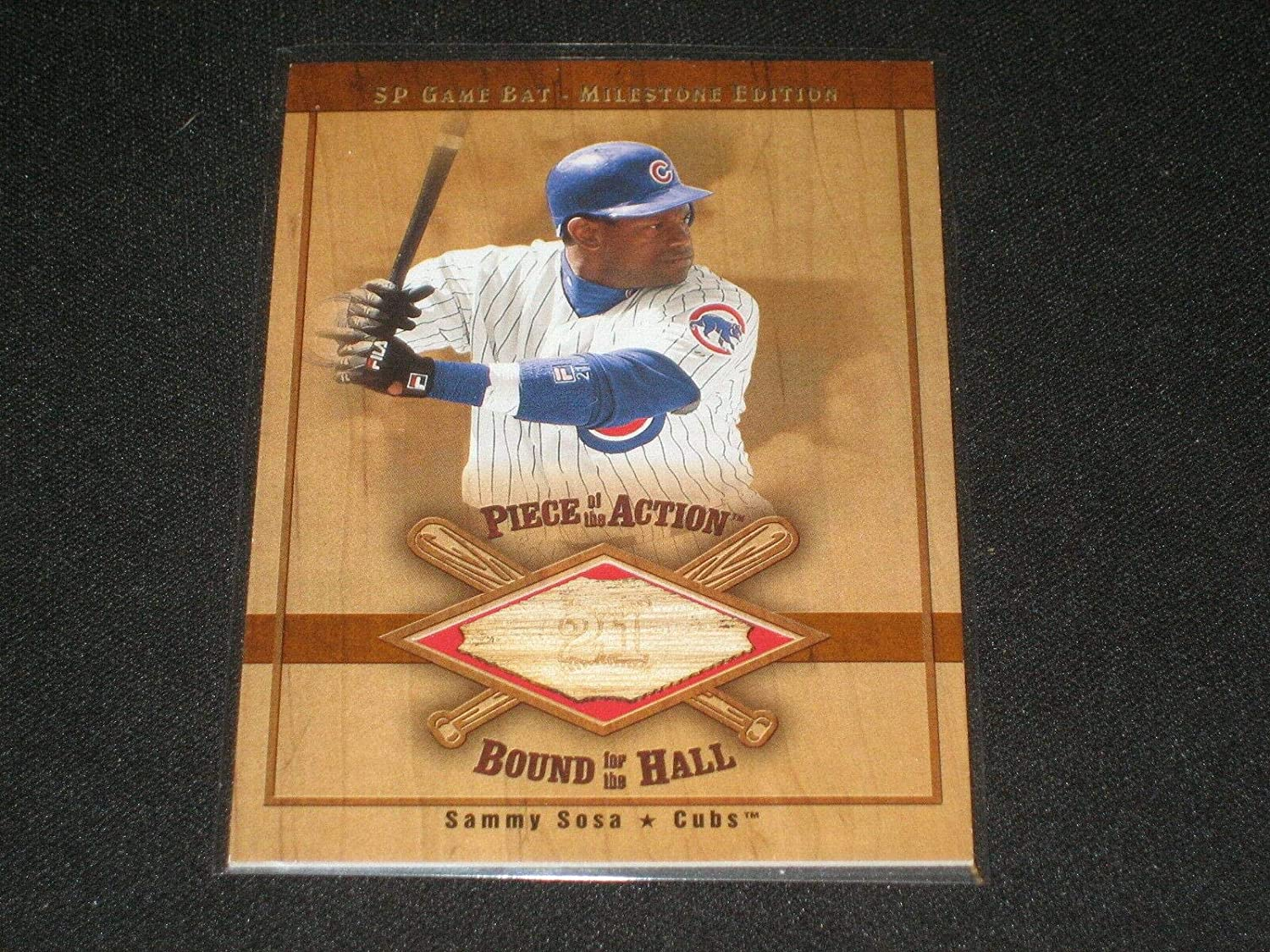 Sammy Sosa Cubs Legend 2001 Spring new work one after another Certified Ud Gam Authentic Milestone Seasonal Wrap Introduction