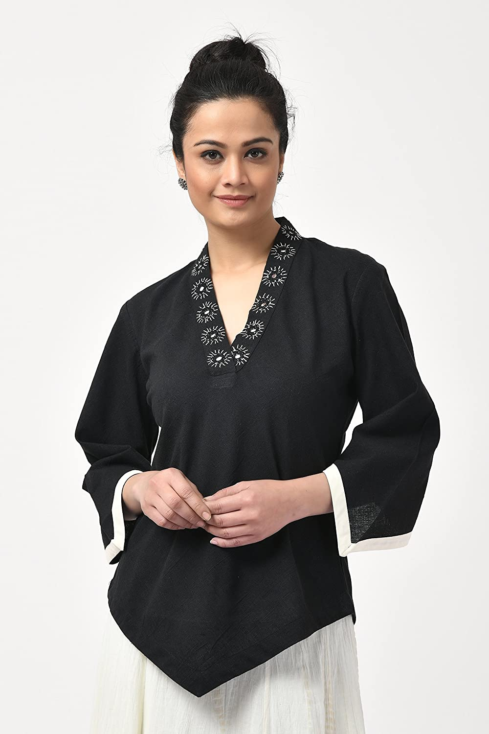Max 55% OFF Black Cotton Top Work with Milwaukee Mall Mirror