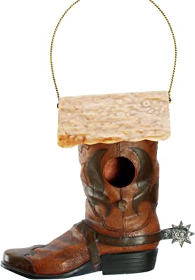 Spoontiques Western Boot Birdhouse