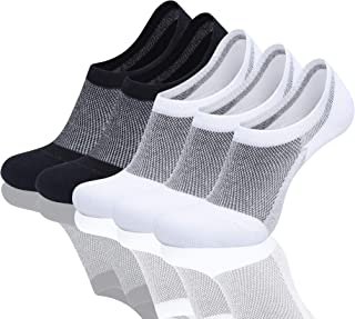 FARCHAT 12 Pairs Low Cut Socks Mens Invisible Socks Womens Black White Gray Cotton