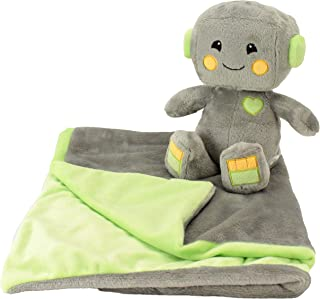Animal Adventure | Cuddle Bundles | Fantasy Robot | Super-Soft Machine Washable Blankie & Plush Toy