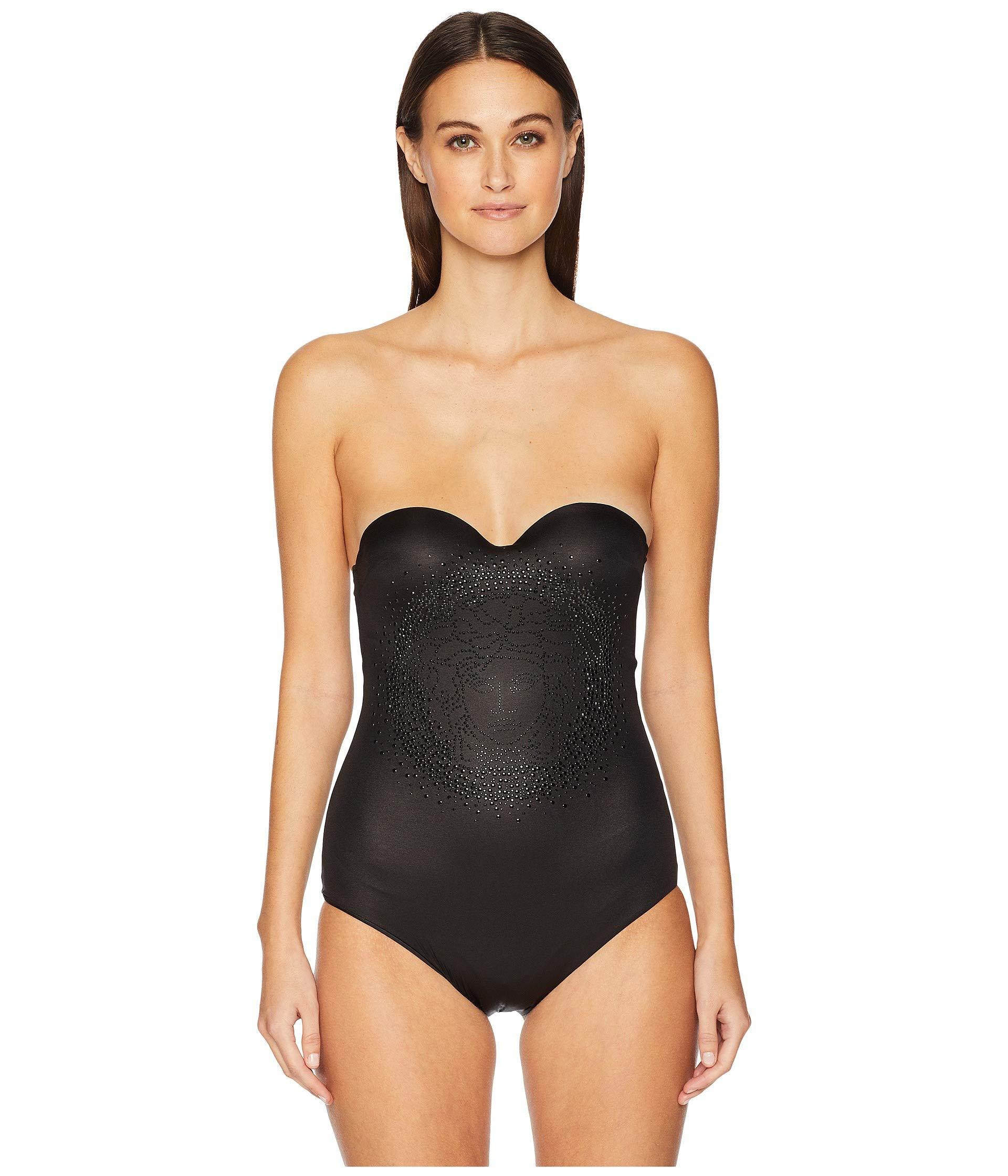 Versace Mare Donna Black Intero Costume black ETqwrEH