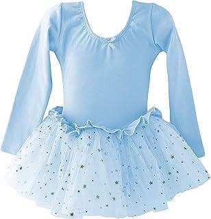 Dancina Mädchen Langarm Ballettkleid Ballettanzug mit Tutu