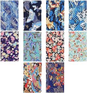 Milisten 10 Pezzi di Tessuto Trapuntato Quadrato Fai da Te Fogli di Stoffa Cucito Motivo Floreale Cucito Patchwork Tessuto...
