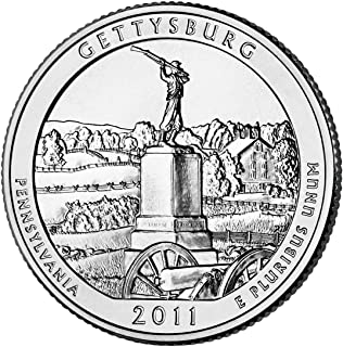 2011 D Gettysburg National Park Quarter Choice Uncirculated
