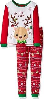 Image of Cute Reindeer Christmas Pajamas for Toddler Girls