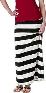 Womens Nautical Striped Maxi Skirt