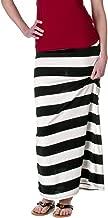 Ambiance Apparel Womens Nautical Striped Maxi Skirt