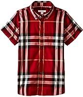 Burberry Kids - Regular Fit Shirt with One Front Pocket (Little Kids/Big Kids)