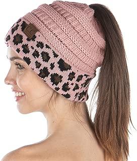 Exclusives BeanieTail Womens Beanie Ponytail Messy Bun Warm Knit Cap